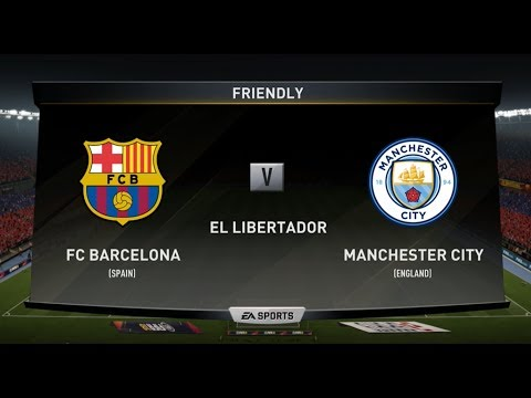 FIFA 18 FC BARCELONA V MANCHESTER CITY XBOX ONE S PS4 PC FULL FOOTBALL MATCH GAMEPLAY