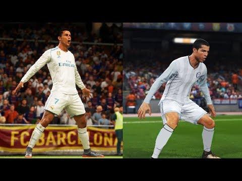 FIFA 18 vs PES 2018 Graphics + Player Animations Comparison