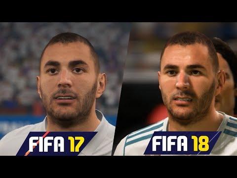 FIFA 18 vs FIFA 17 Real Madrid Faces Comparison