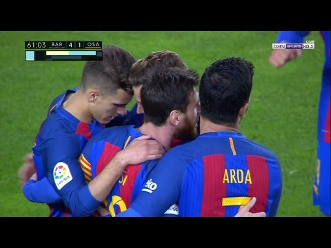 Barcelona vs Osasuna 7-1 All Goals 26-4-2017 HD