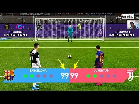 PES 2020 | BARCELONA vs JUVENTUS | Longest Penalty Shootout Ever | Ronaldo vs Messi
