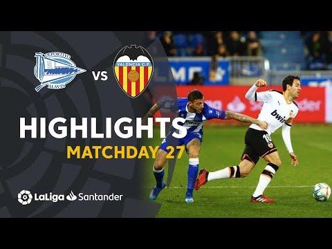 Highlights Deportivo Alavés vs Valencia CF (1-1)