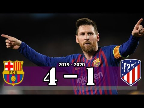 Messi 2 ⚽  Barcelona vs Atletico Madrid (4-1) | Goal & Highlight Resumen & Goles (Last Matches)