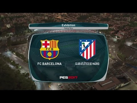 PES 2017 DEMO Gameplay BARCELONA Vs. ATLETICO MADRID full match