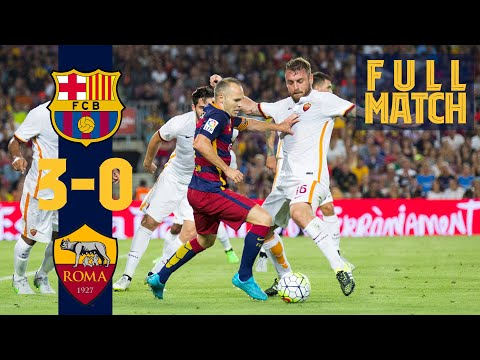 FULL MATCH: Barça 3 – 0 AS Roma (2015) Treble winners return to action!