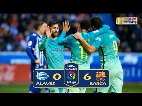 Alaves 0-6 Barca (Liga 2016-17)