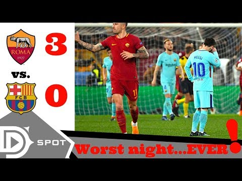Roma vs FC Barcelona 3-0  post match reaction Champions League Quarterfinal 2018