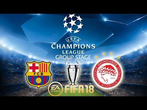 FIFA 18 Barcelona vs Olympiacos | Champions League Group Stage 2017/18 | PS4 Full Match
