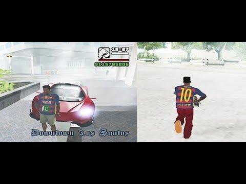 fc barcelona kit mod on gta san andreas & add & pakistani  flag+kit name/player name..