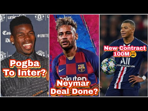 Football Transfer News Today | Neymar to FC Barcelona Deal Done? Mbappe New PSG Contract