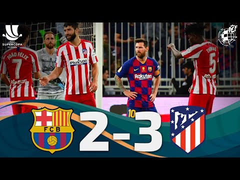 RESUMEN | FC Barcelona 2 – 3 Club Atlético de Madrid | Semifinales Supercopa España