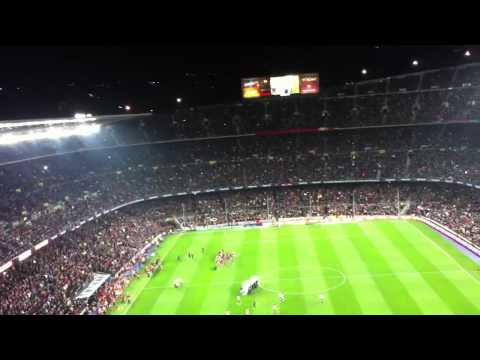 Barca fans singing the Barca song