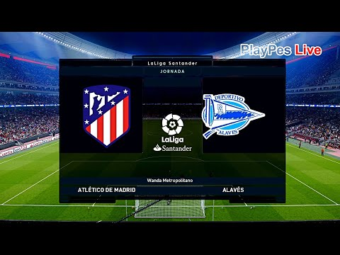 PES 2020 – Atletico Madrid vs Alaves – Full Match & KOKE Free Kick Goal – Gameplay PC