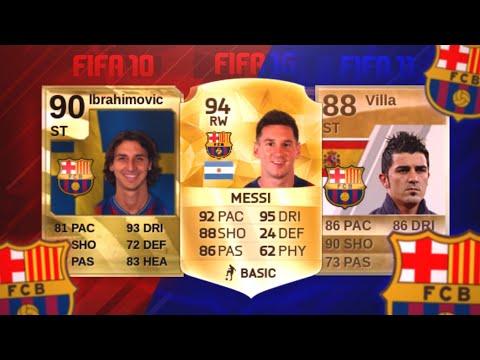 LOS 3 MEJORES JUGADORES DEL FC BARCELONA DE CADA FIFA !!