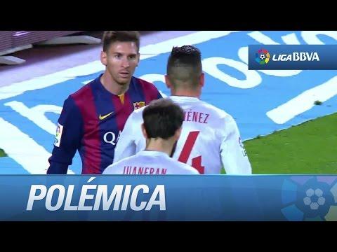 Polémica: patada de Messi a Moyá
