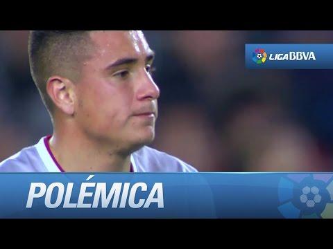 Polémica: dura entrada de Giménez sobre Neymar