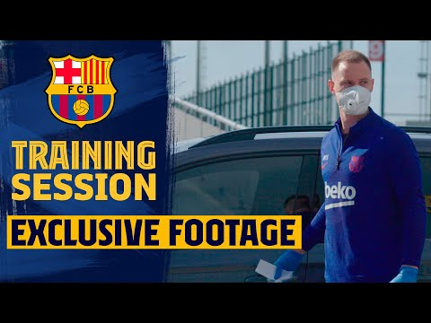 🧼 Safety first: How Ter Stegen gets his car disinfected while training